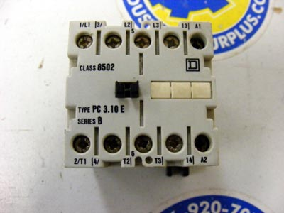 <B>Square D - </B>8502 PC 3.10 E Contactor Series B